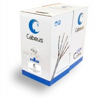 Cabeus UTP-4P-Cat.5e-SOLID-GY Кабель витая пара U/UTP кат5e 4 пары 4x2x0,50 серый 305м