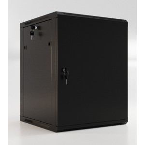 """Шкаф напольный 19"""" 6U, 367x600х450мм, металлическая передняя дверь с замком, две боковые панели"""
