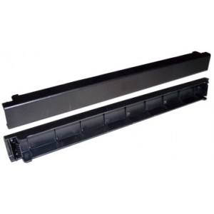 """19"""" пластиковая фальш-панель 1U, быстросъемная, черная"""