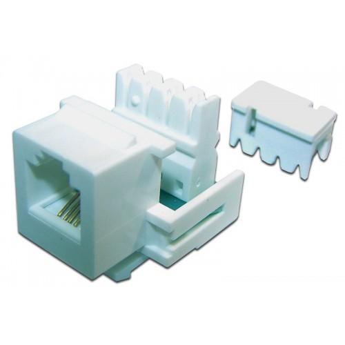 Модуль Keystone телефонный, RJ12 Port, UTP, 110, TWT-OK12UTP-110WH TWT-OK12UTP-110WH
