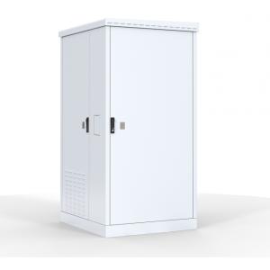 """Шкаф уличный 19"""" всепогодный напольный 12U (Ш1000хГ900) с электроотсеком, три двери"""