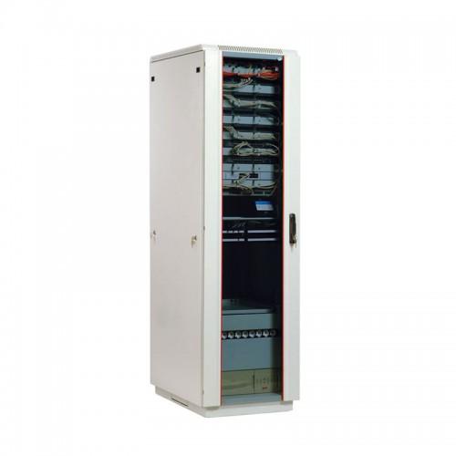 """Шкаф ЦМО 19 """" телекоммуникационный напольный 42U (600x800) дверь стекло ШТК-М-42.6.8-1ААА"""