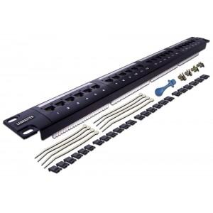 """LANMASTER Патч-панель 19"""" 1U 24 порта RJ45 UTP, кат.5E LAN-PPL24U5E"""