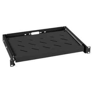 Выдвижная универсальная клавиатурная полка для шкафов глубиной 450мм, черная
