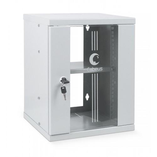 """Cabeus WSC-8U Шкаф телекоммуникационный настенный 10"""" 8U 326x300x405mm (ШхГхВ) дверь стекло WSC-8U 7648c"""