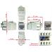 Модуль Keystone, RJ45, кат.6, UTP, 180 градусов, со шторкой, белый LAN-OK45U6/180-WH