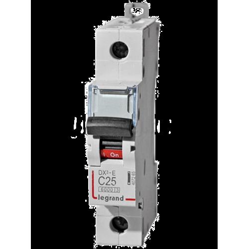 Автоматический выключатель Legrand  DX3-E C25 1П 6kA (407265) 407265