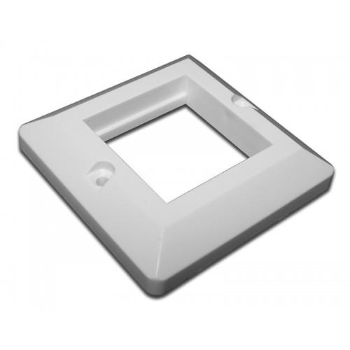 Лицевая рамка для настенной коробки, французский стандарт, 45x45 TWT-WP45x45-WH