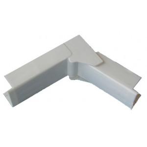 Угол внутренний/внешний переменный - для мини-плинтусов DLPlus 40x20 - белый