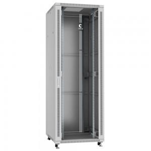 """Cabeus Шкаф 19"""" 47U напольный телекоммуникационный 800x800 серый, разборный, дверь стекло"""