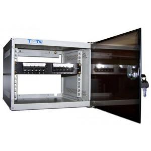 """Шкаф 10"""" 12U настенный TWT Lite, 300x310, стеклянная дверь разборный"""