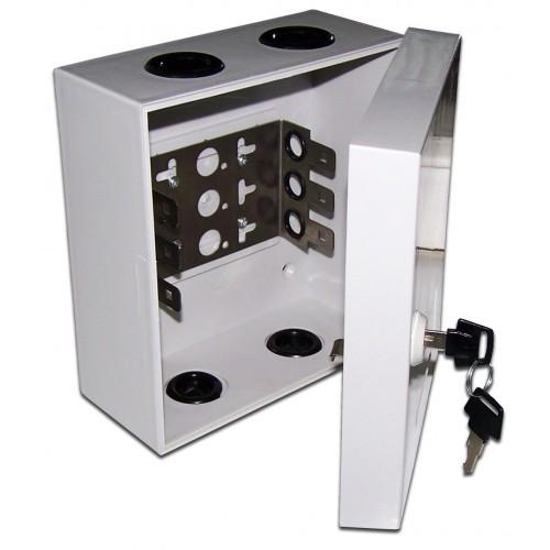 Настенный распределительный бокс, упрощенный, 10 плинтов, 100 пар, пластик, с замком TWT-DB10-10P/L TWT-DB10-10P/L