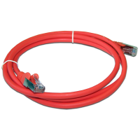 Патч-корд RJ45 кат 5e FTP шнур медный экранированный LANMASTER 2.0 м LSZH красный