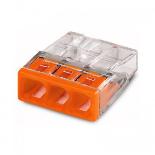 Клеммы для распределительных коробок 2273-203 на 3 пров. сечением 0,5-2,5 мм2 (без пасты) WAGO 2273-203