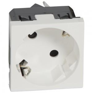 Розетка Legrand электрическая 2К+3 под углом 45° Mosaic белая