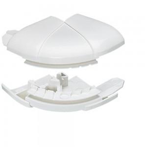 Угол внешний переменный от 60° до 120° - для кабель-каналов DLP 50х80 - белый