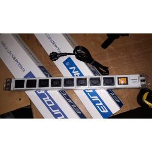 Блок розеток Eurolan 8 розеток С13 с выключателем 60A-61-05-08GY