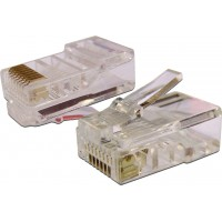 TWT-PL45-8P8C-6 Коннектор RJ45 UTP 8P8C, универсальный, cat.6, 100 шт.