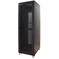 Шкаф серверный MDX 42U 600x1000, перфорированные двери, ножки, черный