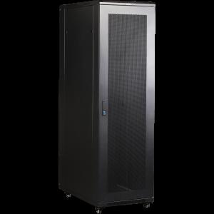 """Шкаф серверный 37U 600x1000 19"""" TWT, черный, передняя дв. перфорир., задняя дв. распашная перфорир."""
