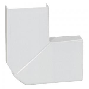 Угол плоский переменный - для мини-плинтусов DLPlus 20x12,5 - белый