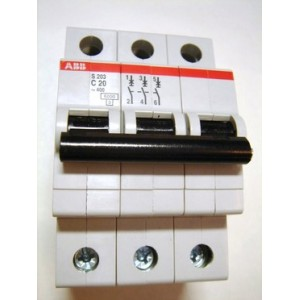 Автоматический выключатель ABB STOS203 C20 3п 20А  6кА (2CDS253001R0204)