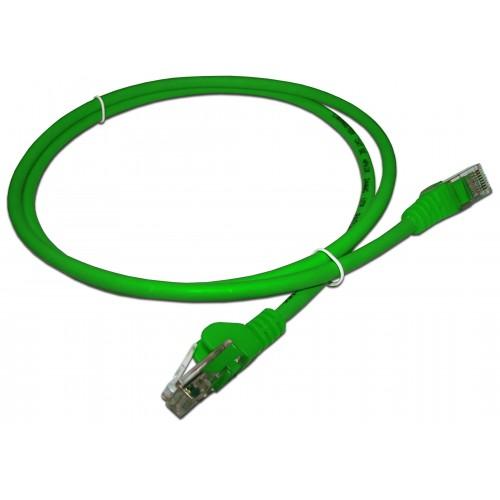 Патч-корд RJ45 UTP кат 5e шнур медный LANMASTER 10.0 м LSZH зеленый LAN-PC45/U5E-10-GN
