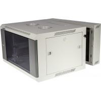 """Шкаф 19"""" 3-секционный 22U 600x600 TWT настенный серии Pro, стеклянная дверь"""