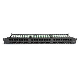 TWT-PP48/1U-U5E Патч-панель TWT 48 портов, UTP, кат.5E, 1U