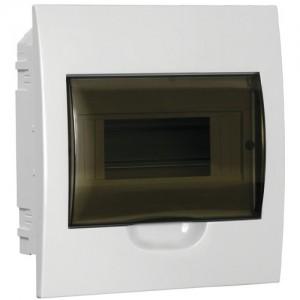 Бокс встраиваемый ЩРВ-П-8, 8 модулей, прозрачная дверь, пластик, IP41, ИЭК