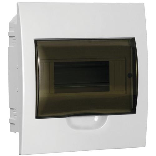 Бокс встраиваемый ЩРВ-П-8, 8 модулей, прозрачная дверь, пластик, IP41, ИЭК MKP12-V-08-40-20