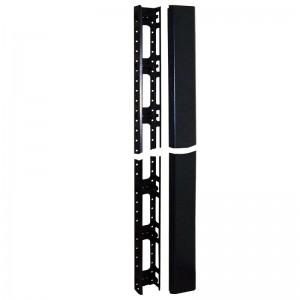 Кабельный органайзер вертикальный 27U, для шкафов Business шириной 800 мм, металл, черный