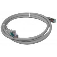 Патч-корд RJ45 кат 5e FTP шнур медный экранированный LANMASTER 1.0 м LSZH серый