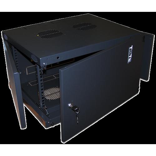 """Шкаф TWT настенный 19"""" Next, 9U 550x450, металлическая дверь, черный TWT-CBWNM-9U-6x4-BK"""