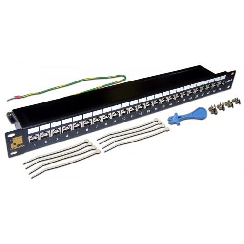 """Патч-панель 19 """" LANMASTER 24 порта, STP, кат.6A, 1U LAN-PPL24S6A"""