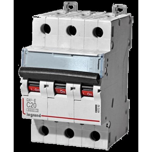 Автоматический выключатель Legrand  DX3-E C20 3П 6kA (407292) 407292