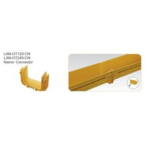 Соединитель оптического лотка 120 мм, желтый
