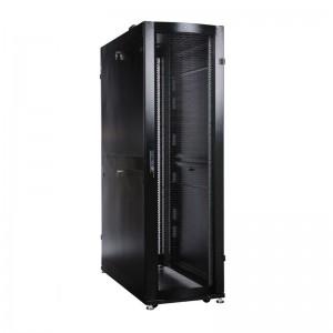 Шкаф ЦМО серверный ПРОФ напольный 48U (600x1000) дверь перфор. 2 шт., черный, в сборе