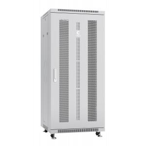 """Шкаф 19"""" 27U Cabeus напольный телекоммуникационный 600x600 серый, разборный, дверь перфорированная"""