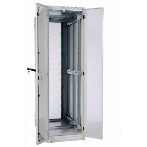 """Шкаф ЦМО серверный 19 """" напольный 42U 600x1200 дверь перфорированная, задние двойные перфорированные ШТК-С-42.6.12-48АА"""