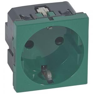 Розетка Legrand электрическая 2К+3 Mosaic зеленая