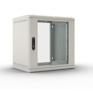 """Шкаф 19"""" ЦМО телекоммуникационный настенный 9U (600х480) дверь стекло"""