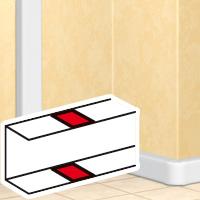 Накладка на стык - DLP - на защелках - для DLP - секционируемая - белая