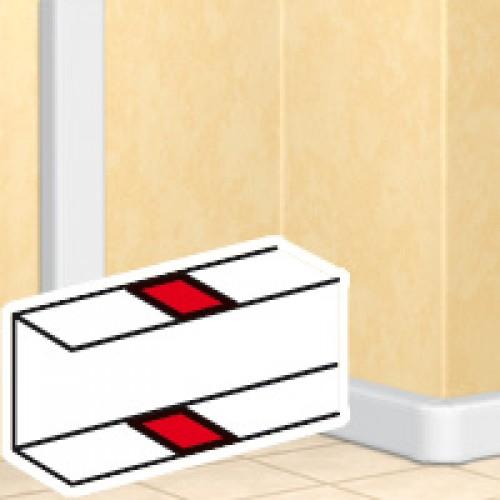 Накладка на стык - DLP - на защелках - для DLP - секционируемая - белая 10691