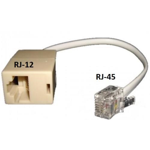 Переходник с порта RJ-45 на порт RJ-12, 10 см TWT-AD4512-L