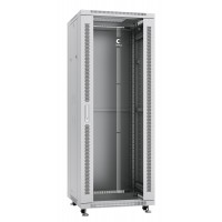 """Cabeus SH-05C-32U60/60 Шкаф 19"""" 32U напольный телекоммуникационный 600x600 серый, дверь стекло"""