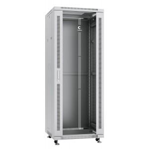 """Cabeus Шкаф 19"""" 32U напольный телекоммуникационный 600x600 серый, разборный, дверь стекло"""