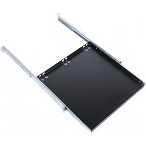 Полка клавиатурная с телескопическими направляющими, регулируемая глубина 580-620 мм, цвет черный