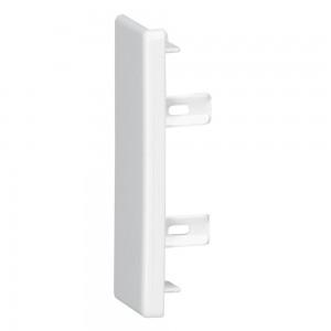 Заглушка торцевая - для мини-плинтусов DLPlus 60x16/20 - белый