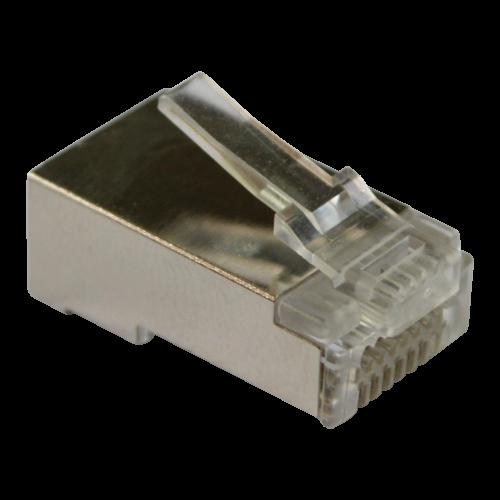 Коннектор RJ45 тип EZ, 8P8C, STP, Cat.5e, универсальный, со вставкой, покрытие 50 микрон,100 шт LAN-EZ45-8P8C/S5E-100